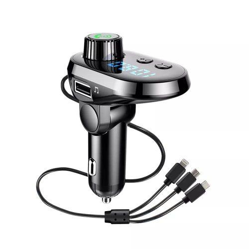 img 2 New Q15 Car Handsfree Wireless Bluetooth Kit FM Transmitter Car LCD Display MP3 Player USB Charger.jpg .webp