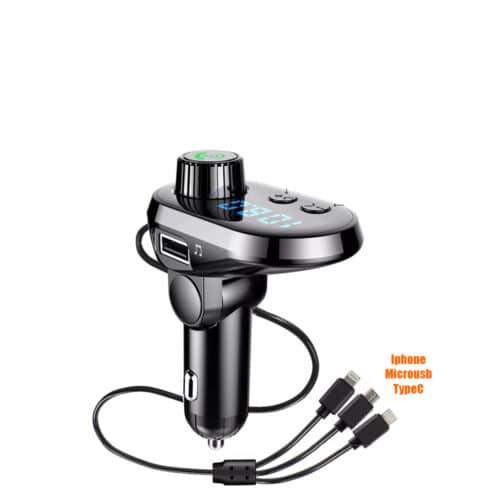 img 4 New Q15 Car Handsfree Wireless Bluetooth Kit FM Transmitter Car LCD Display MP3 Player USB Charger.jpg .webp